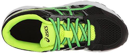 Asics Gel-Contend 4 GS Synthetik Laufschuh Black/Green Gecko/Safety Yellow