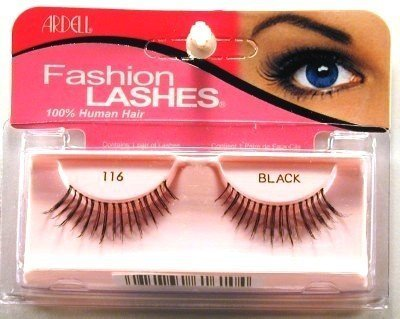 Ardell Fashion Lashes #116 Black (3-Pack) with Free Nail File by Ardell