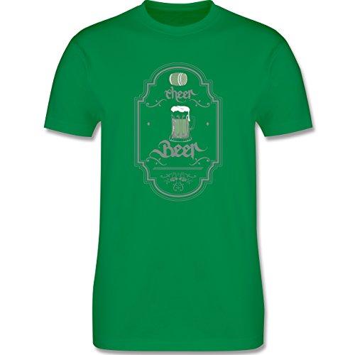 Statement Shirts - Cheer Beer - Herren Premium T-Shirt Grün
