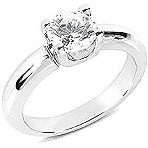 F VS1 Diamonds-Anello solitario di fidanzamento, 1,75 ct