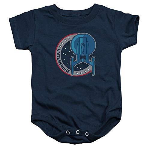 Star Trek - - Toddler Enterprise Patch Onesie, 24 Months, Navy