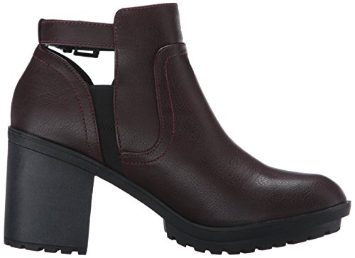 Rocket Dog Reese Damen Rund Synthetik Mode-Stiefeletten Burgundy