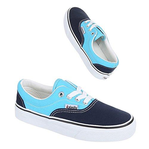 Freizeitschuhe Schuhe Damen Blau Schnürer 1 Yj876001 Sneakers pFUUAxHw