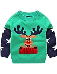 Niños Bebé Navidad Jersey Invierno Manga Larga Pull-over Prendas de Punto Sudaderas Ropa 1-6 Años