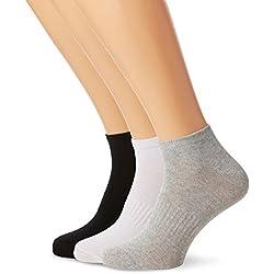 FM London Men's Breathable, Athletic Trainer Ankle Socks, pack of 12