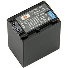 DSTE® NP-FV100 Li-ion Batería para Sony DCR-SR15, SR21, SR68, SR88, SX15, SX21, SX44, SX45, SX63, SX65, SX83, SX85, HDR-CX105, CX110, CX115, CX130, CX150, CX155, CX160, CX190, CX200, CX210, CX220, CX230, CX260V, CX290, CX300, CX305, CX350V, CX360V...