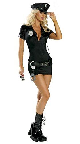 stüm Polizistin Instruktor Rolle Spielt Uniform Versuchung, schwarz, L ()