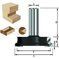 ENT Schubladen Verleimfräser HW (HM), Schaft (C) 8 mm, Durchmesser (A) 25,4 mm, B 12,7 mm, F 19 mm, E 3,97°, D 32 mm