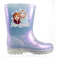 Frozen 2 Girls Wellingtons Disney Slip On Wellies Rubber Anna & Elsa UK 6-12