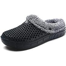 f5363caac1bc0 K T Zapatillas Hombres Mujer Otoño Invierno Pantuflas de Estar por casa  Algodón Zapatilla Espesan Sole Slippers