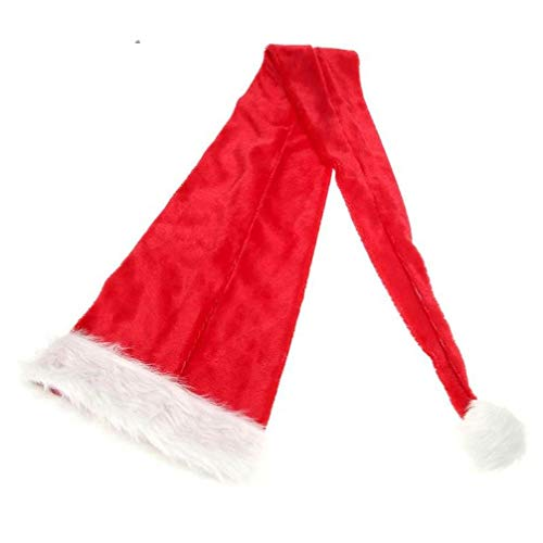 HTYMP Weihnachten Hut Lange Weihnachtsmann Hut Plüsch Erwachsene Kinder Weihnachten Kostüm Dekor Frauen Männer Jungen Mädchen Kappe Navidad Weihnachtsdekoration