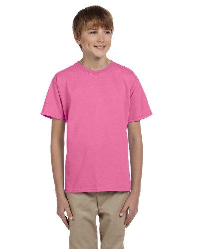 Fruit of the Loom Unisex-Kinder T-Shirt aus Baumwolle Rosa - Azalee
