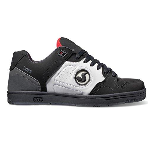 DVS APPAREL Discord, Scarpe da Skateboard Uomo Black/White/Red Nubuck Deegan