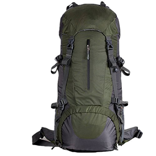 60L Im Freien Bergsteigen Taschen Reißfeste Wasserdichte Wanderrucksack Mit Großer Kapazität,Orange60L ArmyGreen50L