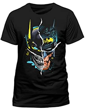 Batman Gesicht Camiseta Negro