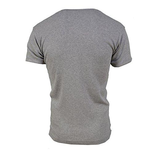 SoulStar Herren T-Shirt Schwarz Schwarz Schwarz - Grau