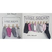 Shabby Deko Schild .Lost Socks. Handgemacht