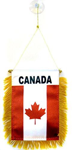 AZ FLAG Fanion Canada 15x10cm - Mini Drapeau Canadien 10 x 15 cm spécial Voiture - Bannière