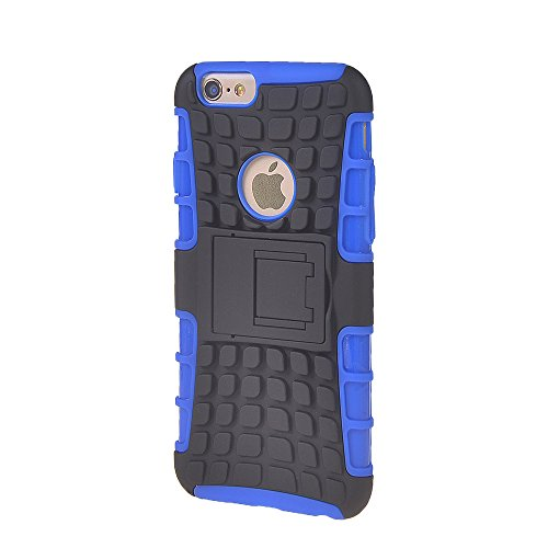 iPhone 6 H¨¹lle,COOLKE [Rose] Sto?fest Doppelschutz Heavy Duty Schutzh¨¹lle mit St?nder Cover Case f¨¹r Apple iPhone 6 (4.7 inch) Blau