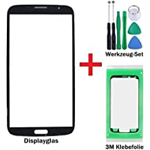 iTech Germany iTech Germany Pantalla de cristal kit de reparación para Samsung Galaxy Mega 6,3 en Negro - Panel frontal táctil para i9200 i9205 LTE + 3M Adhesivo y de 7-Piezas Juego de herramientas