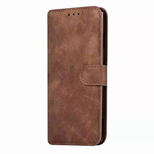 Sunrive Hülle Für WileyFox Spark X, Magnetisch Schaltfläche Ledertasche Schutzhülle Etui Leder Case Cover Handyhülle Tasche Schalen Lederhülle MEHRWEG(W8 Brown)