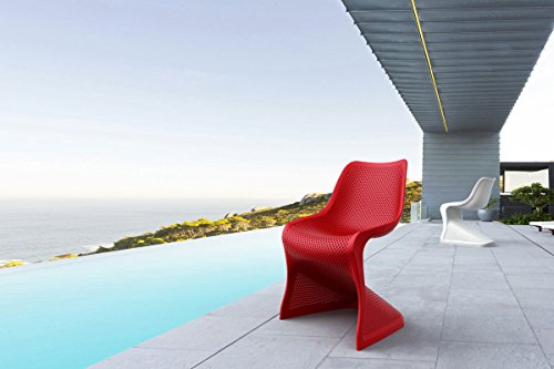 Gartenstuhl Freischwinger - CLP Design Kunststoff-Stuhl BLOOM – XXL Gartenstuhl – Freischwinger Stuhl