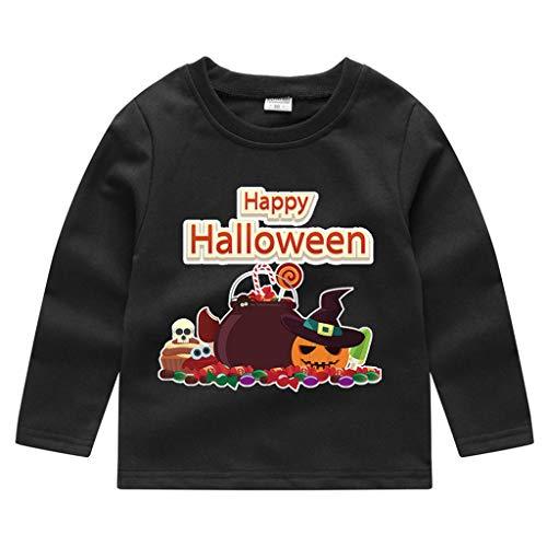 Romantic Kinder Baby Jungen Halloween Kostüme Lange Ärmel Bat/Kürbis/Brief Gedruckt T-Shirt Schickes Kürbis Kostüm Top Sweatshirts für Karneval Party Halloween - Rosa Kleinkind Monster Kostüm