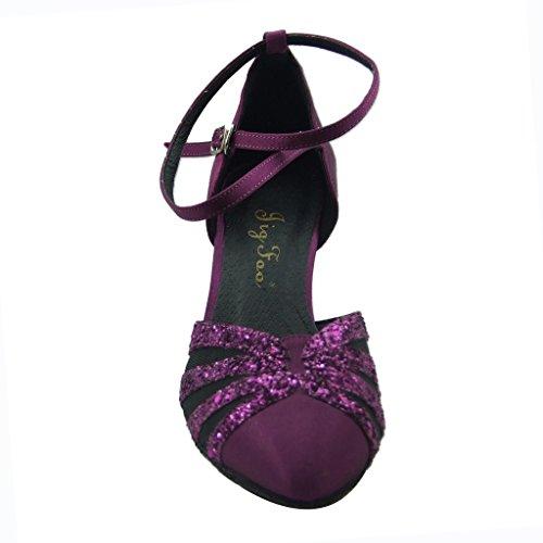 Jig Foo Chaussures de Pompes Dance pour Femme Violet - Violet