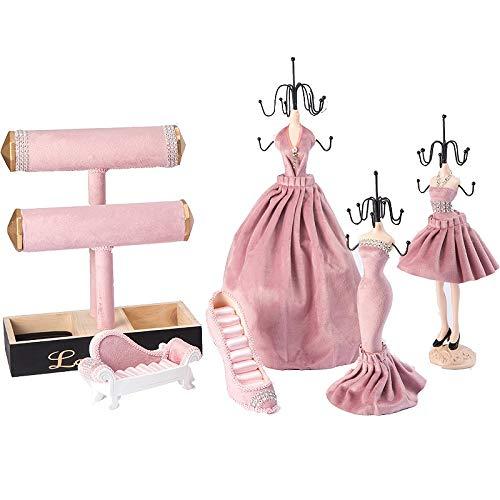 Diamant-sofa-satz (Große Prinzessin Flanell Diamant Schmuck Rack Display Prinzessin Hochzeit Kristall Samt sechs Sätze)