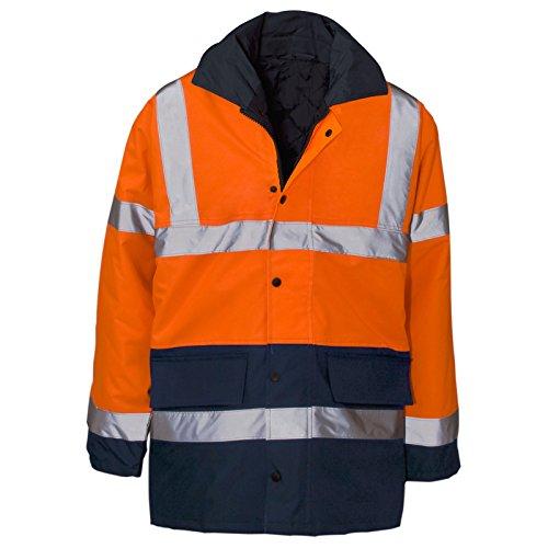 MYSHOESTORE® Hi Vis Viz alta visibilità Parka giacca da lavoro