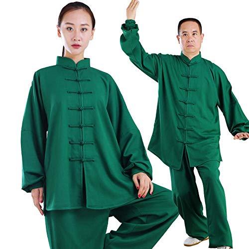 AMhuui Uniformi Cinesi Tradizionali di Tai Chi, Uniformi di Arti Marziali Indossano Abbigliamento Kung Fu Unisex,Blue,S