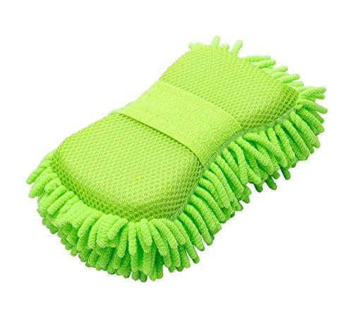 Happyit Coche microfibra esponja toalla lavado guante Chenille lavado mitón lavado Herramienta de...