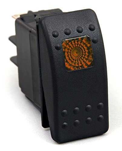 Preisvergleich Produktbild HOTSYSTEM 12V Wasserdicht Auto KFZ Schalter Wippschalter Ein/Ausschalter LED Beleuchtet Wechsel Switch Kippenschalter Orange
