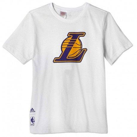 Tee-shirt Lakers blanc Basketball Garçon Adidas