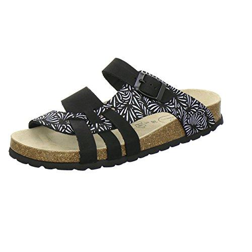 AFS-Schuhe 2122, Modische Damen-Pantoletten, Bequeme Hausschuhe Größe 40 Schwarz (schwarz)