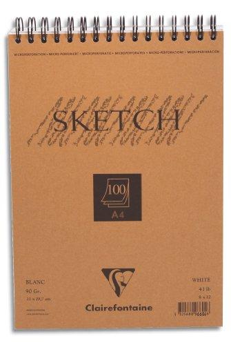 bloc-sketch-croquis-spirale-21x297-90g-100-feuilles-papier-blanc