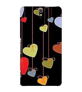 Fabcase heart symbols hanging Designer Back Case Cover for Sony Xperia C5 Ultra Dual :: Sony Xperia C5 E5533 E5563