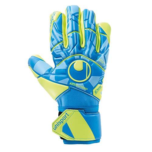 uhlsport Unisex- Erwachsene Radar Control ABSOLUTGRIP HN Torwarthandschuhe, Fußballhandschuhe, blau/Fluo gelb/schw, 9.5