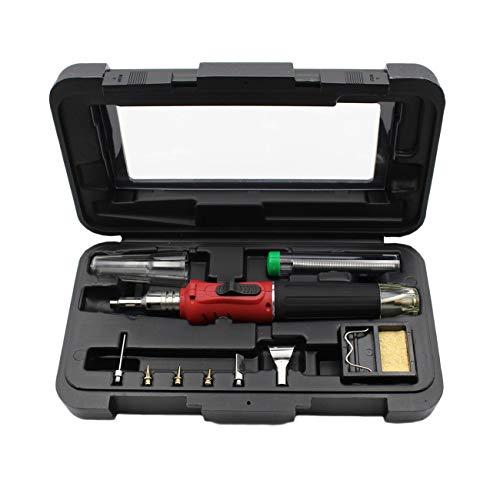 Peanutaod 10 in 1 HS-1115K elektronische Zündung Gas-Lötkolben-Kit Set Gas Lötlampe Lötkolben Gewehr-Schweißens-Feder-Brenner-Tools -
