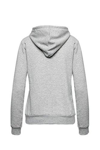 Madonna Damen Hoodie Kaputzen Pullover Sweatshirt Winter Sweat Langarm Grau Melange