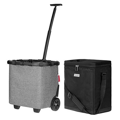 anndora Kühlbox 32 Liter schwarz + reisenthel carrycruiser Twist Silver 40 Liter