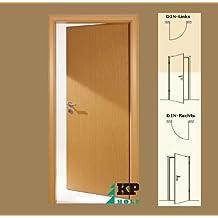 CPL Zimmertür Tür Türen Innentüren Buche RSP DIN links / 8-14,5 cm