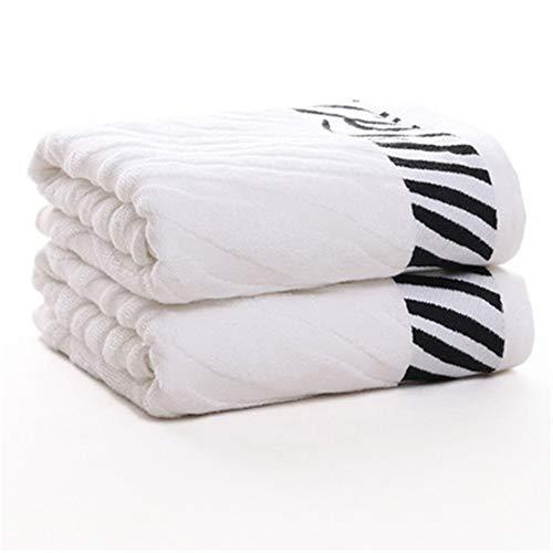 SKKG Baumwoll-Handtuch, weiches Waschhandtuch, Erwachsene, universal, für Spa, Küche, Hotel, Fitness, Fitnessstudio, Hotel, Herren und Frauen, Paar, Kinder, Sommer-Geschenk, weiß, 70x140cm