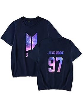 Unisex Camicie BTS KPOP Maglietta Bangtan Boys Suga Jin Jimin Jung Jook Maglietta J-Jope Rap Monster Manica Corta...