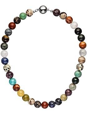 Dreambase Damen-Halskette Edelsteine multicolor 45 cm 12 mm