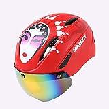 YLFC Casco Bicicleta, Casco Bicic, Certificado CE, Casco Bicicleta Adulto con Visera Magnética Desmontable Gafas de Protección Super Light Casco Integral de Bicicleta Skateboarding Ski