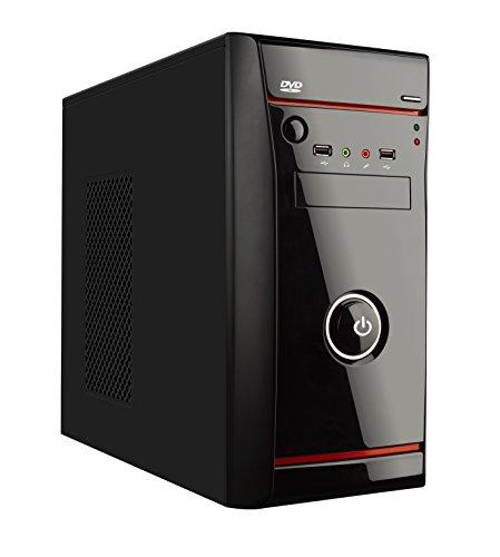 L-Link Micro - Caja con fuente atx 500w, color negro