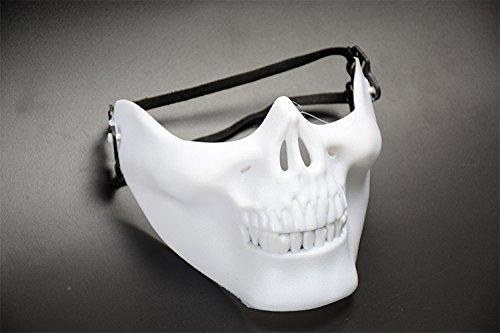 Media máscara de calavera, para disfraces y Halloween, de 51ZMT