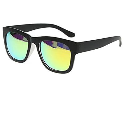 Younky Combo Of Uv Protected Branded Mercury Wayfarer Sunglasses For Men Women Boys & Girls ( Green_Wayfarer-_Silver_Wayfare ) - 2 Sunglass Case