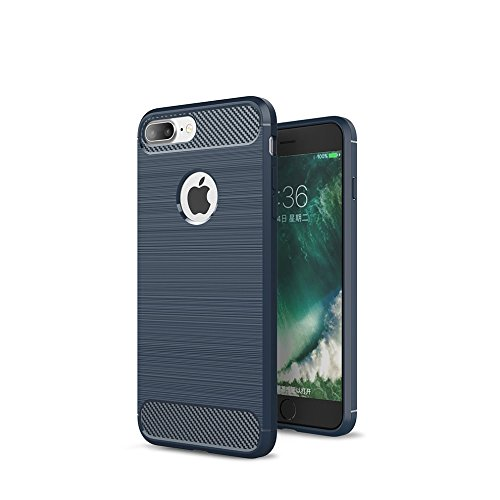 CRUST™ [CarbonX] Premium iPhone 7 Plus (5.5 Inch) Back Case Cover, [Brushed Metal] and [Carbon Fiber] Texture with [Air Cushion Technology] Shock Proof Rugged Armor [Ultra Slim Fit] Soft TPU Case For Apple iPhone 7 Plus (5.5